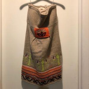 Sleeping on Snow Anthropologie Wool Print Dress M